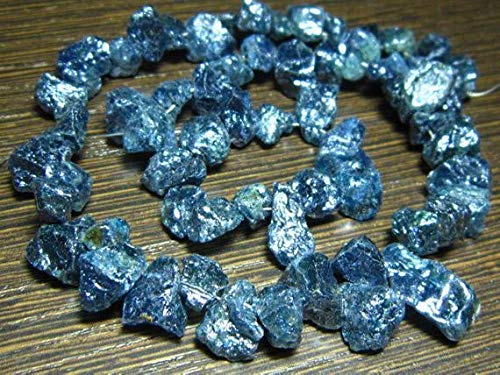 Iolite Mystic Hammered Rough Nuggets- 7