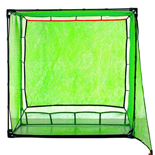 Galileo Golf Net Hitting Cage Practice Driving Net High Impact Double Back Stop with Target Training Aids Automatic Ball Return Net for Backyard 6.6X3.3X6.6FT(2mX1mX2m) Indoor&Outdoor