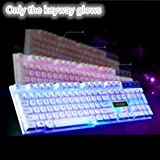 Backlit Gaming Wired Keyboard,Mechanical Feel/USB Interface for Home use-C