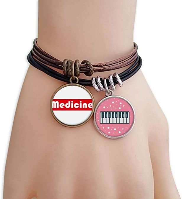 Pikkme Quote/Quotes - Music is My Medicine - Red White
