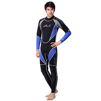 e6d8bfa5fb NEPPT Long Sleeve Wetsuit Scuba Diving Swimsuit Full Body Neoprene Material  3mm Surfing One Piece Waterproof