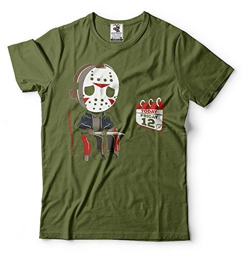 Silk Divertente Shirt 12 Militare Uomo Jason Verde Tee Road Consigliere Tees Venerdì Da wRqRrI