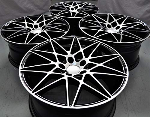 """18"""" Inch Staggered Black Wheels Rims (Full Set of 4) for sale  Delivered anywhere in USA"""