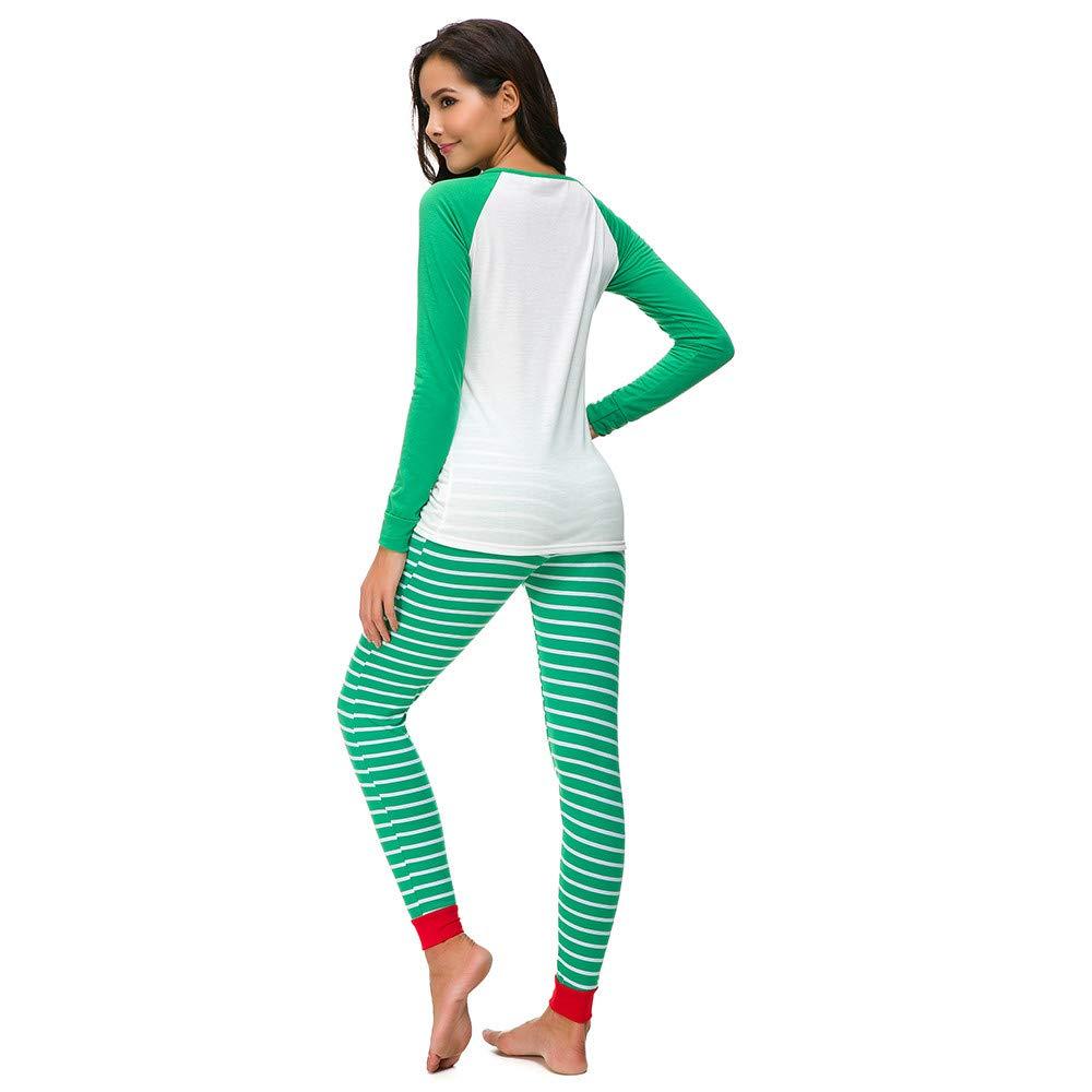 Yvelands Mujer Pijama de Navidad PJs Set de Manga Larga Camiseta Pantalón Ropa de Dormir Ropa de Dormir: Amazon.es: Ropa y accesorios