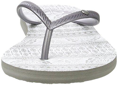 Roxy Bermuda, Chanclas para Mujer Gris (Grey/ White)