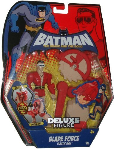 DC Batman The Brave and the Bold: Plastic Man Blade Force Deluxe Action Figure (Plastic Man Batman Brave And The Bold)