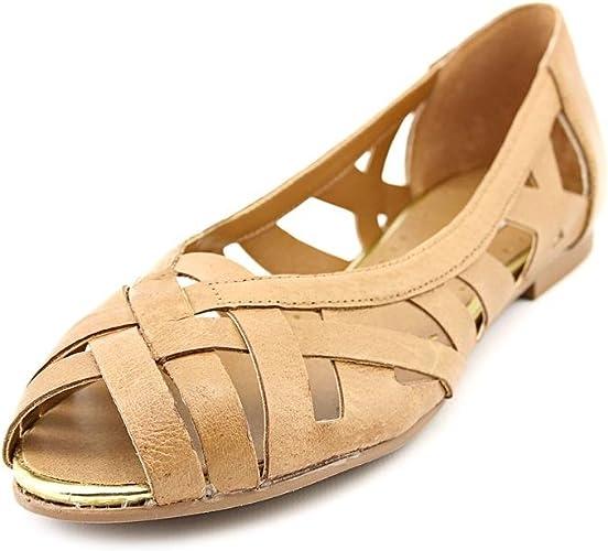 Steve Madden Ditaa Peep Toe Flats Shoes