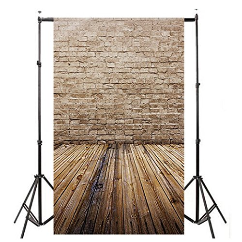 Wensltd Clearance! Vinyl Wood Wall Floor Photography Studio Prop Backdrop Background 3x5FT (H-1)