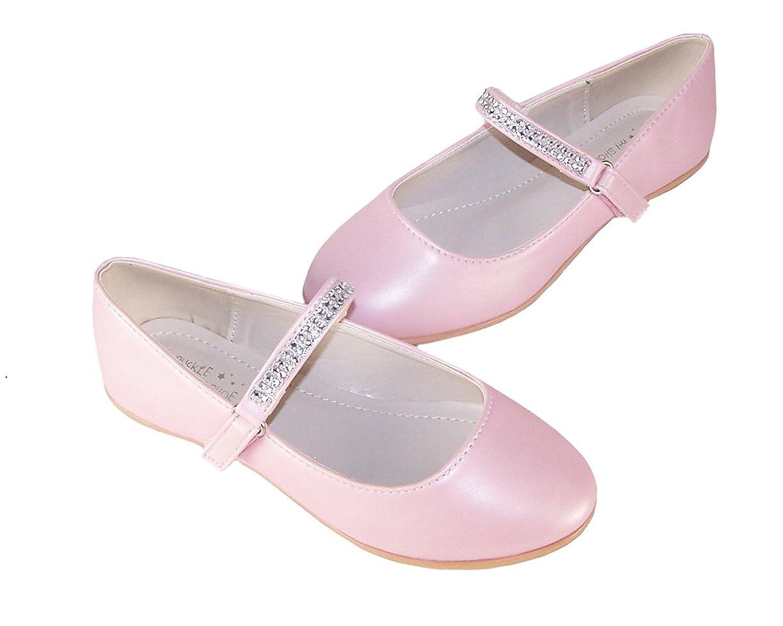 The Sparkle Club Girls Childrens Pale Pink Soft Pu Ballerina Flower