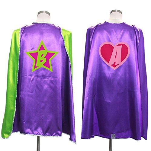 Everfan Personalized Superhero Capes for Kids | Custom Child Super Hero Cape | Cape Costume for Children | Polyester Satin (Purple) ()