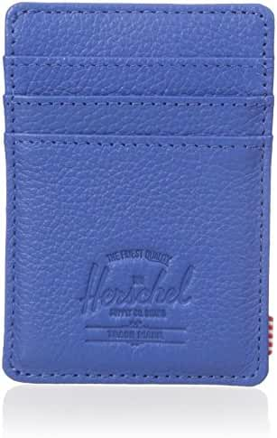 Herschel Supply Co. Men's Raven Leather Card Holder Wallet With Money Clip