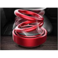 Popinjay® Solar Ring Car Air Freshener Double Loop Rotary Air Conditioner Dashboard Air Freshener Perfume (red)