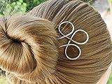 Celtic Silver Hair Fork Hair Pins Hair Stick Bun Holder Hair Jewelry women gift