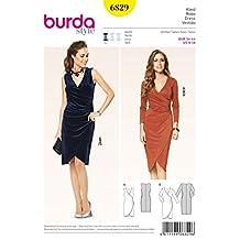 Burda Ladies Easy Sewing Pattern 6829 Mock Wrap Tulip Skirt Dresses