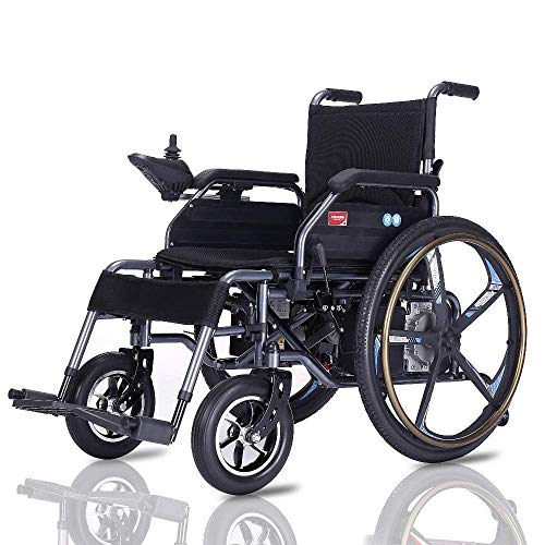 - MLNRDDLY Elderly Wheelchair,Electric Elderly Wheelchair Folding Lightweight Elderly Disabled Intelligent Automatic Lithium Battery Elderly Scooter