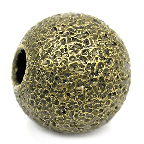 Housweety Bijoux 200 Perles intercalaire Rond Bronze 6mm