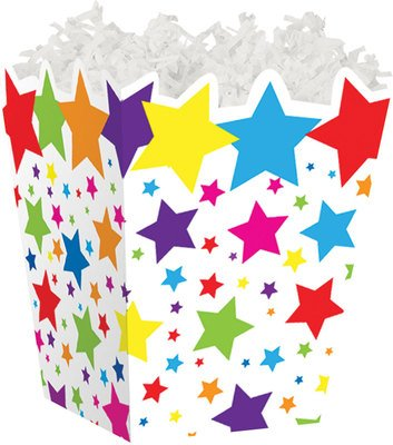 Super Stars Sweet Treat Gable Boxes for Food Gift Baskets -