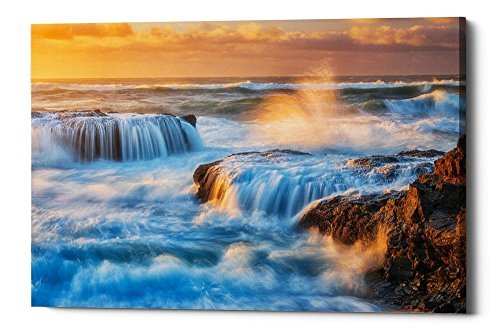 Epic Graffiti Sunset Fury by Darren White Giclee Canvas Wall Art, 40'' x 60'' by Epic Graffiti