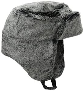 Chaos Chav Faux Beaver Fur Trapper Hat, Grey, One Size
