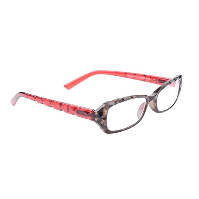 0d6828806f Aiweijia Fashion Ladies reading glasses Spring Hinge Classic Vintage Style  Reading Glasses Brown Red frame design  Amazon.co.uk  Clothing