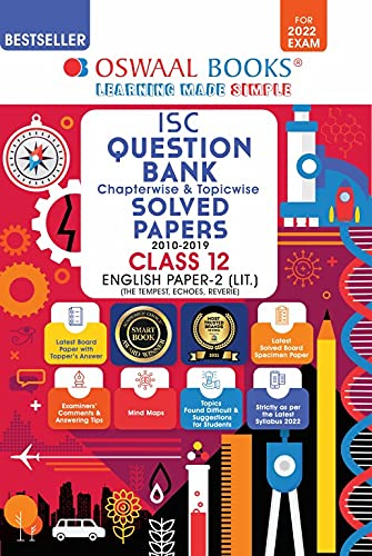 Oswaal ISC Question Bank Class 12 English Paper-2 Literature Book Chapterwise & Topicwise (For 2022 Exam)