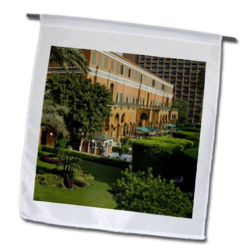 Danita Delimont - Egypt - Exteriors, Marriott Hotel, Cairo, Egypt - AF14 NTO0089 - Nico Tondini - 12 x 18 inch Garden Flag (fl_131486_1)