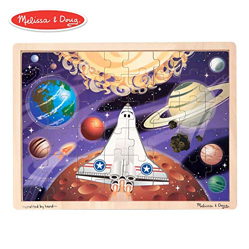 - Melissa & Doug Space Voyage Wooden Jigsaw Puzzle (48 Pieces)