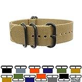ZULU4 Ballistic Nylon Watch Strap + Spring Bars, Field Ready + Fashion Forward, Heavy Duty + Washable