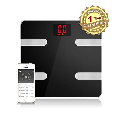 Escala de grasa corporal Inteligente Bluetooth Digital Scale Body Composition Monitor Analyzer funciona con el teléfono