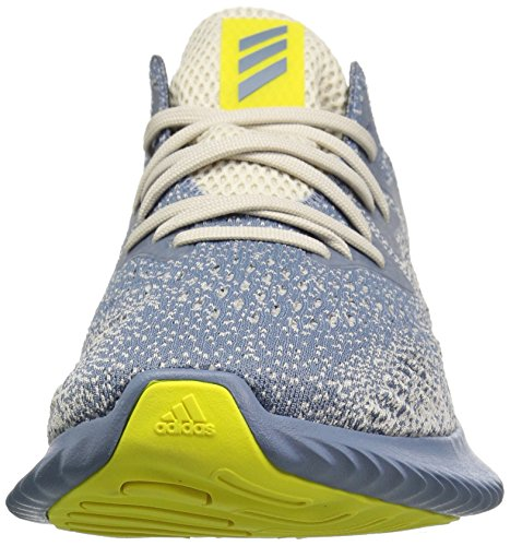 adidas Men's Alphabounce Beyond Running Shoe, Steel/raw Grey/Shock Yellow, 7 M US by adidas (Image #4)
