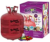 Toys : Balloon Time Disposable Helium Tank 14.9 cu.ft - 50 Balloons and Ribbon Included by Blue Ribbon