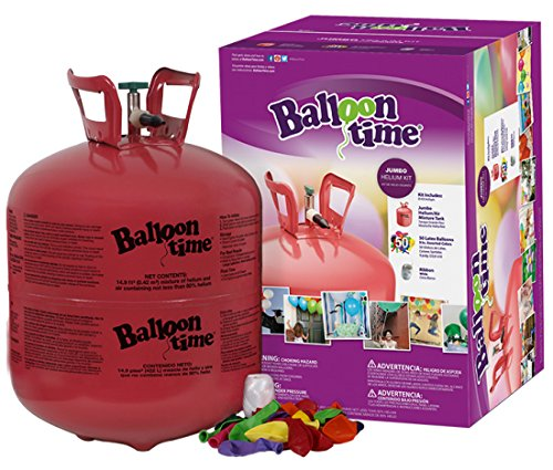 Balloon Time Disposable Helium Tank 14 9 Cu Ft   50 Balloons And Ribbon Included By Blue Ribbon