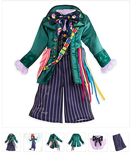 (Disney - Mad Hatter Costume for Kids - Alice Through the Looking Glass Size 7/8 -)