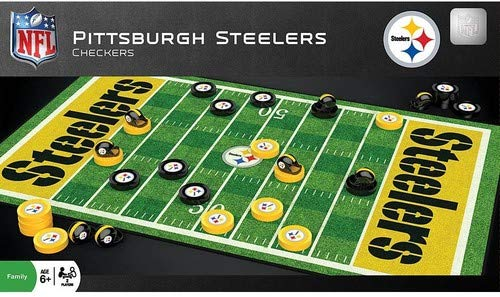 Steelers Pittsburgh Game - MasterPieces NFL Pittsburgh Steelers Checkers Game