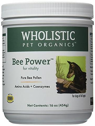 Wholistic Pet Organics Bee Powder Supplement, 1 lb (Holistic Granules)
