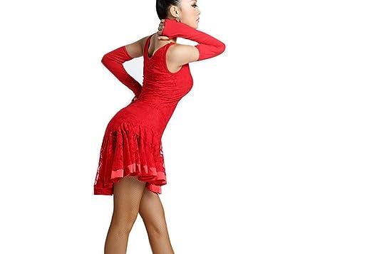Amazon.com: pipigarden sin mangas vestido de Danza Latina ...