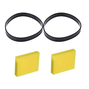 Eagles 2pack Replacement 7 9 10 12 14 Belts Compatible for Bessel 3031120 & 32074 and 2pack Replacement pre-Motor Foam Filters 2032662