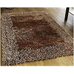 SRHandloom Modern Shaggy Carpet/Rug Mat for Home Office and Living Room – Brown (2 x 3)