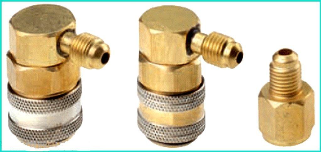 Manifold Gauge Conversion Kit Quick Coupler Refrigerant Tank AC A/C Set R12 to R134 - House Deals