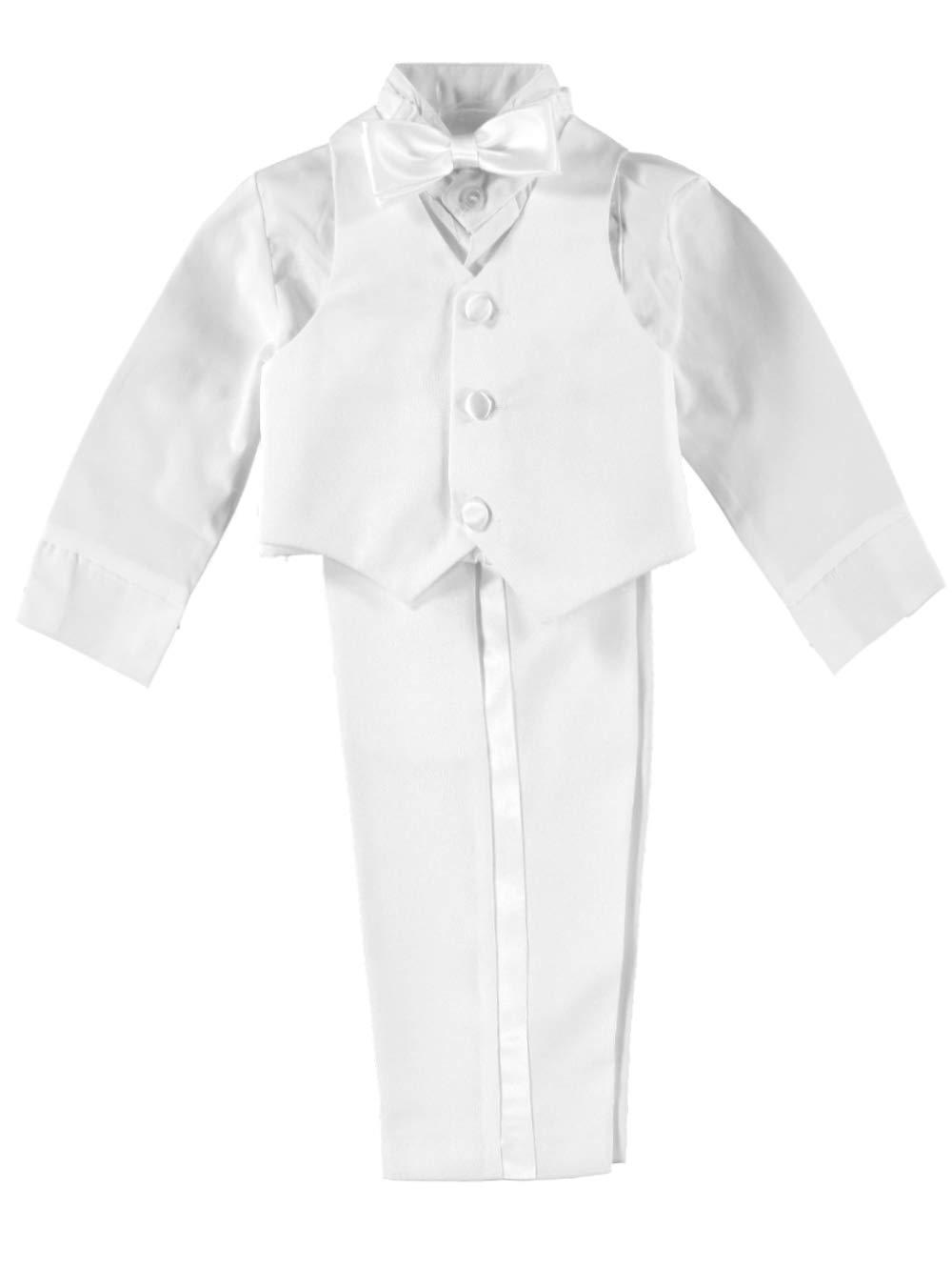 Kaifer Baby Boys' 5-Piece Tuxedo - white, 6 - 9 months