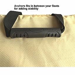 Microfiber Waterproof Dog Hammock Seat Covers Pet Car Seat Protector Non-slip Silicone Backing, Dark Grey (Medium)