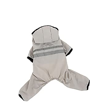 Impermeable perro de cuatro patas ropa impermeable pequeño perro cachorros todo incluido paraguas pet poncho,