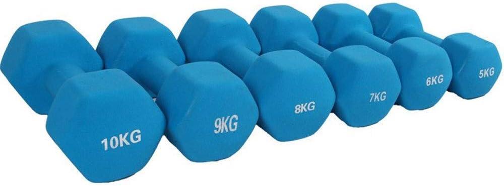 六角はメンズフィットネス5/6/7/8/9 / 10キロキロ男子と女子の家庭用機器エクササイズ腕の筋肉のためのダンベルを浸し (Color : Blue, Size : 8KG)