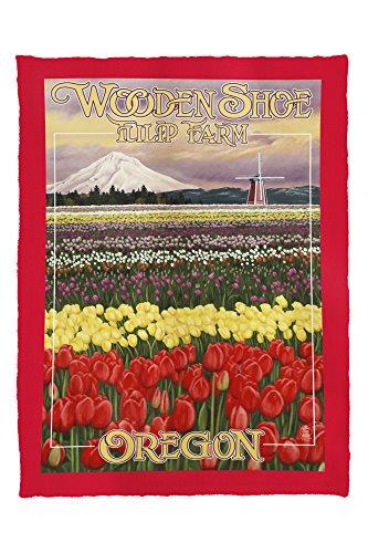 Wooden Shoe Tulip Farm - Woodburn, Oregon (60x80 Poly Fleece Thick Plush - Oregon Of Woodburn Map