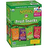 Annie's Organic Bunny Fruit Snacks, Variety Pack, 42 Pouches 0.8 oz Each