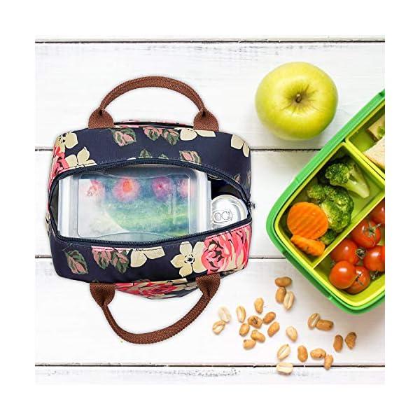 Borsa termica LOKASS per il pranzo al sacco, con rivestimento isolante a prova di perdite.Leggera per donne, ideale per… 4 spesavip