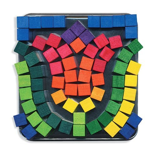 Orb Factory Magnetic Mosaics - Magnetic Color Cubes - Set of 100