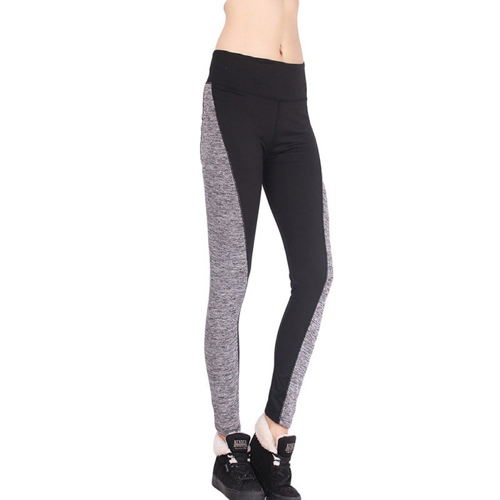 Shujin Damen Sport Leggings Farbe Splicing Workout Laufhose Running Hosen Training Yoga Jogginghose Fitness Gymnastik Sporthose Outdoor Tights Lange