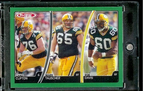 2007 Topps Total # 299 Chad Clifton - Mark Tauscher - Rob Davis - Green Bay Packers - Football Card