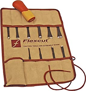 5. Flexcut Carving Tools, Craft woodwoodcarver Set, 10 Carving Blades and Interchangeable ABS Handle Included